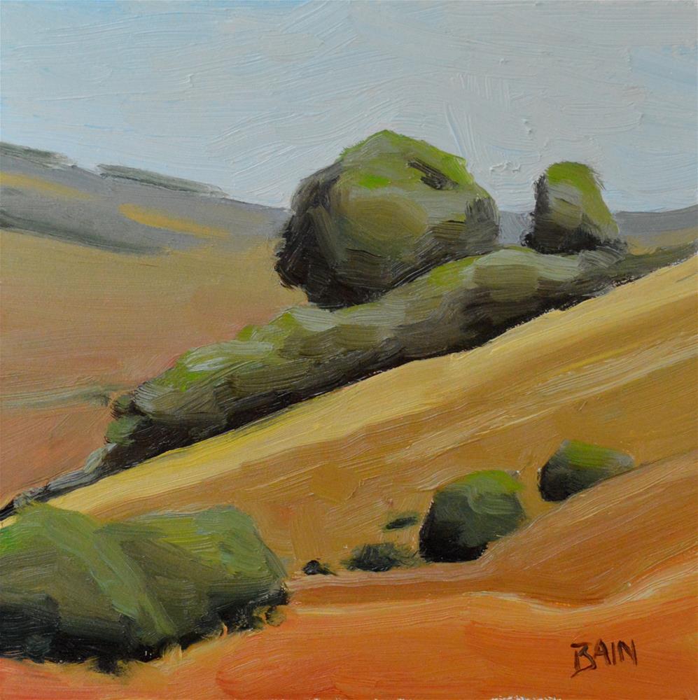 """California Hills"" original fine art by Peter Bain"