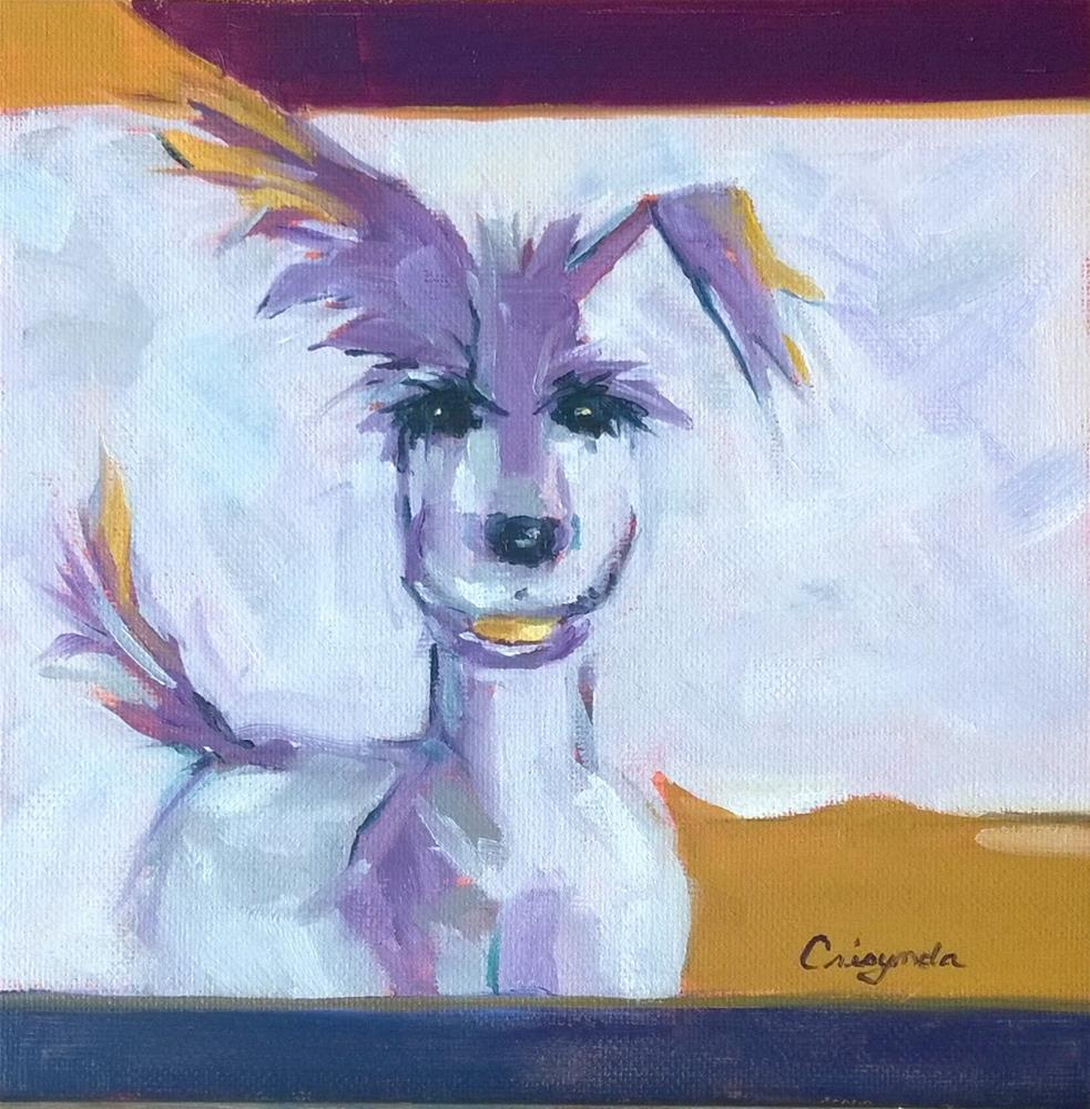 """Otis in Oil"" original fine art by Crisynda Buss"