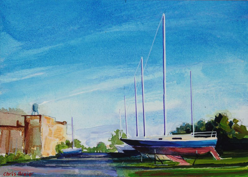 """Yacht Club"" original fine art by Chris  Breier"