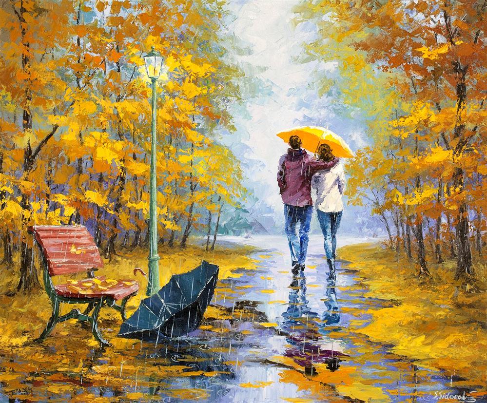 """""""Forgotten Umbrella"""" original fine art by Stanislav Sidorov"""