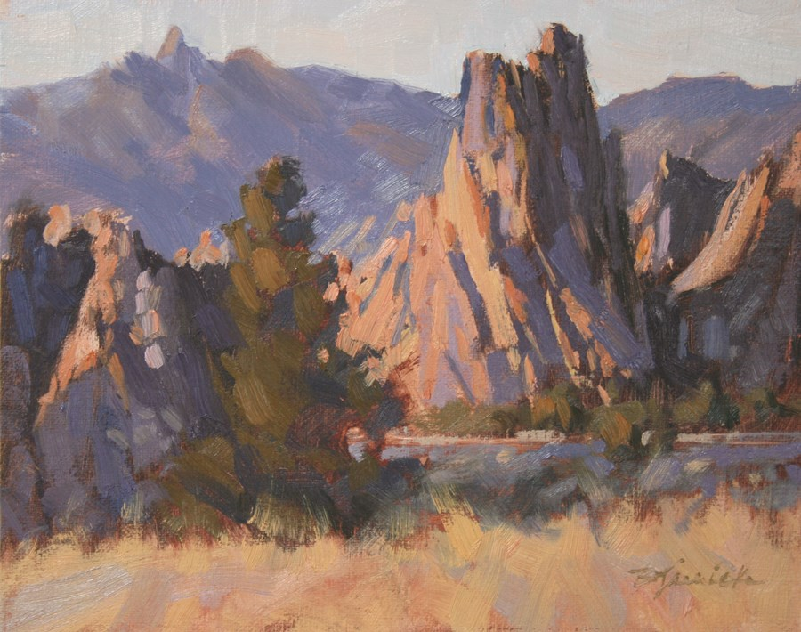"""Rim Rock Trail Illumination"" original fine art by Barbara Jaenicke"