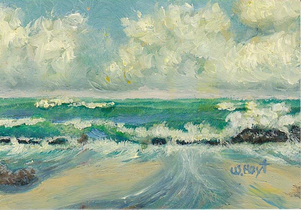 """""""Surf's Up"""" original fine art by William W. Hoyt"""