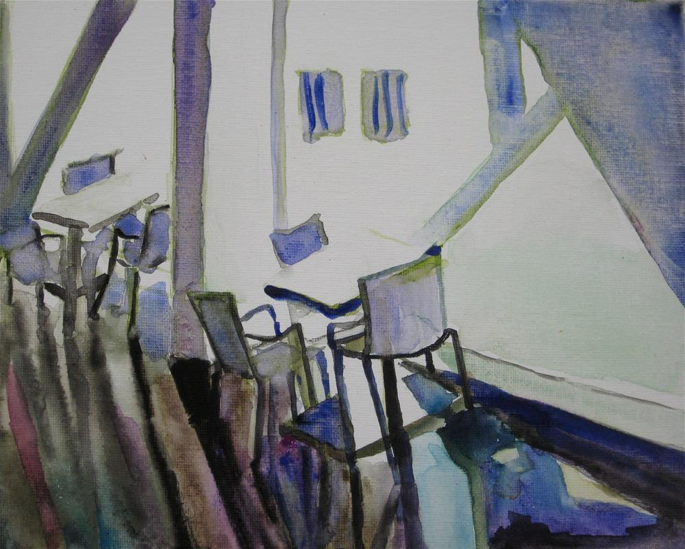 """Chairs in DAM"" original fine art by Julia Lu"