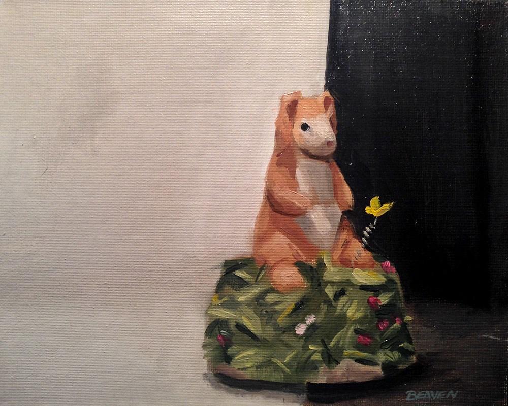 """Rabbit Keepsake"" original fine art by Chris Beaven"