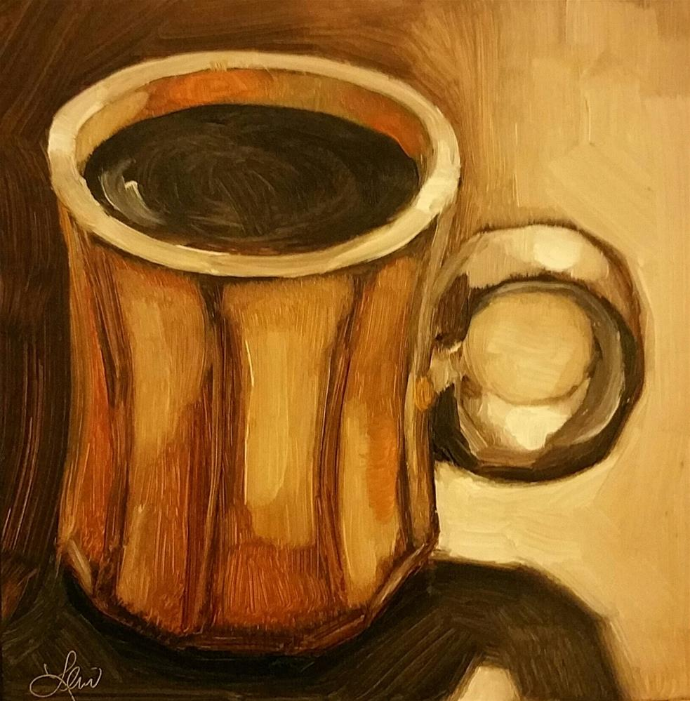 """Just A Cup Of Coffee"" original fine art by Leni Tarleton"