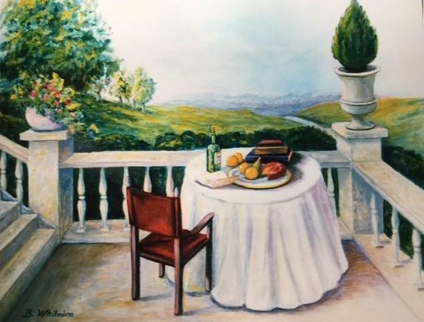 """""""The Letter"""" original fine art by Barbara Whitmire"""