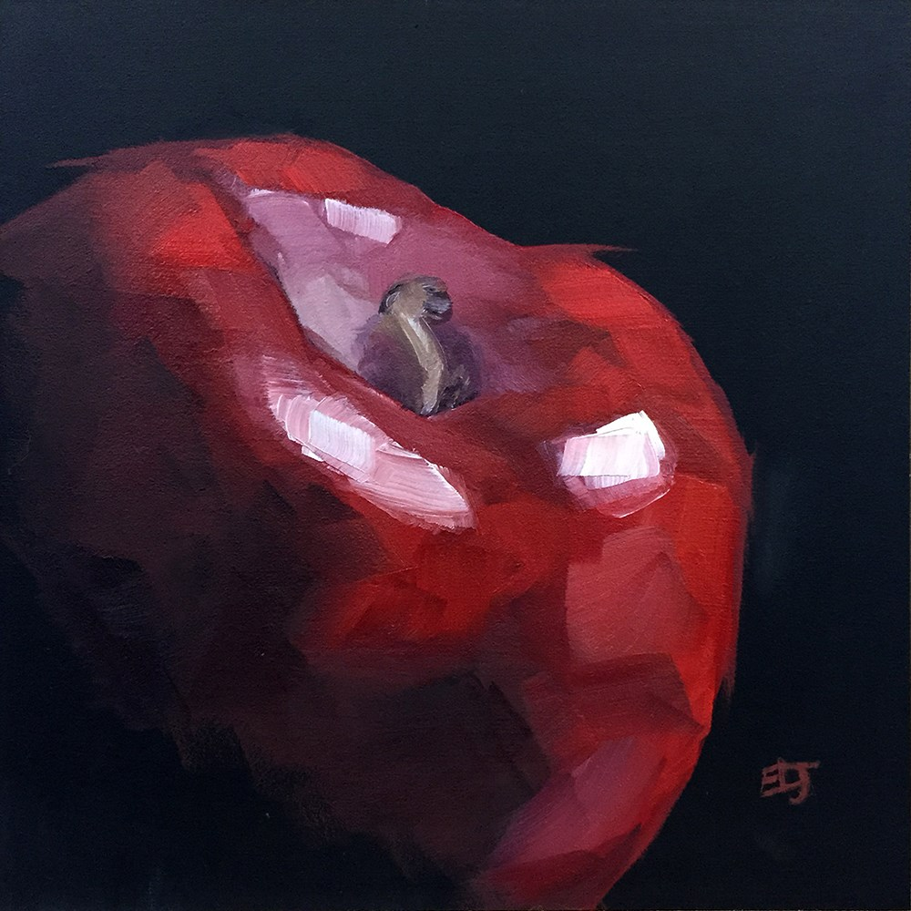 """Dark Apple"" original fine art by Elizabeth Dawn Johnston"