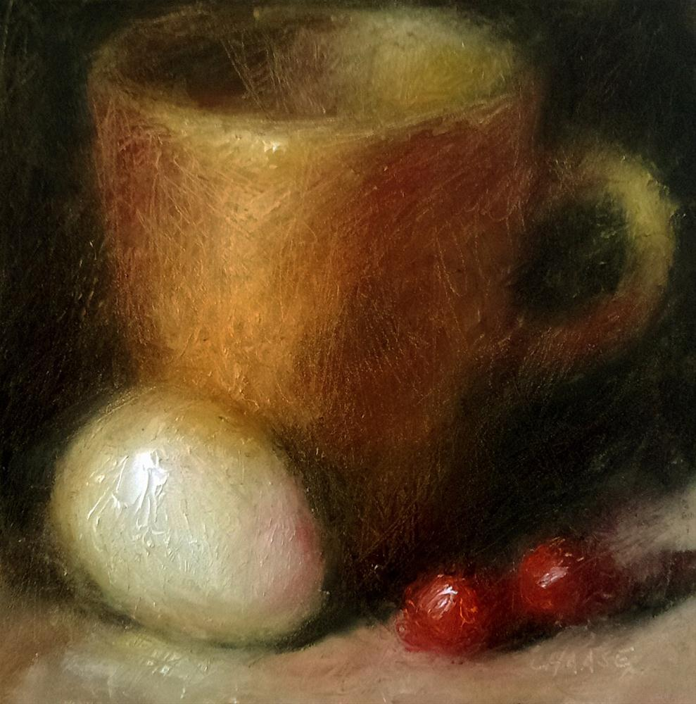 """Cup and Egg"" original fine art by Cindy Haase"