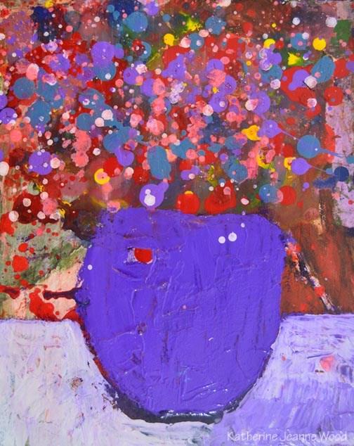 """Floral Painting Series No 67"" original fine art by Katie Jeanne Wood"