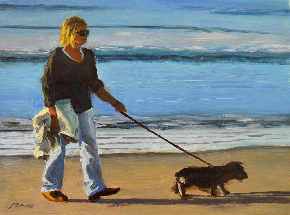 """Water's Edge"" original fine art by Peter Bain"