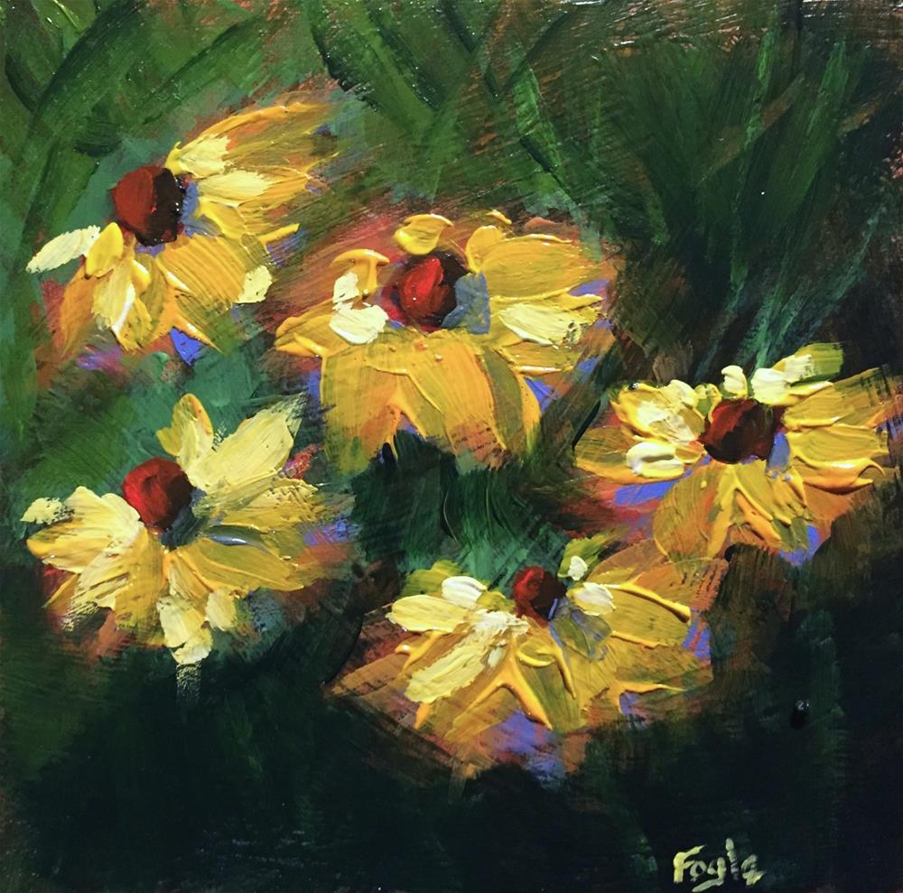"""""""15-18 Sunny Faces"""" original fine art by Rachel Fogle"""
