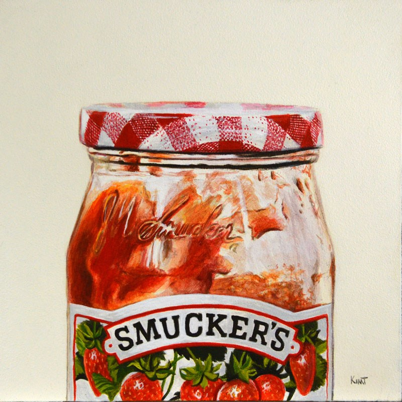 """Strawberry Jam"" original fine art by Kim Testone"