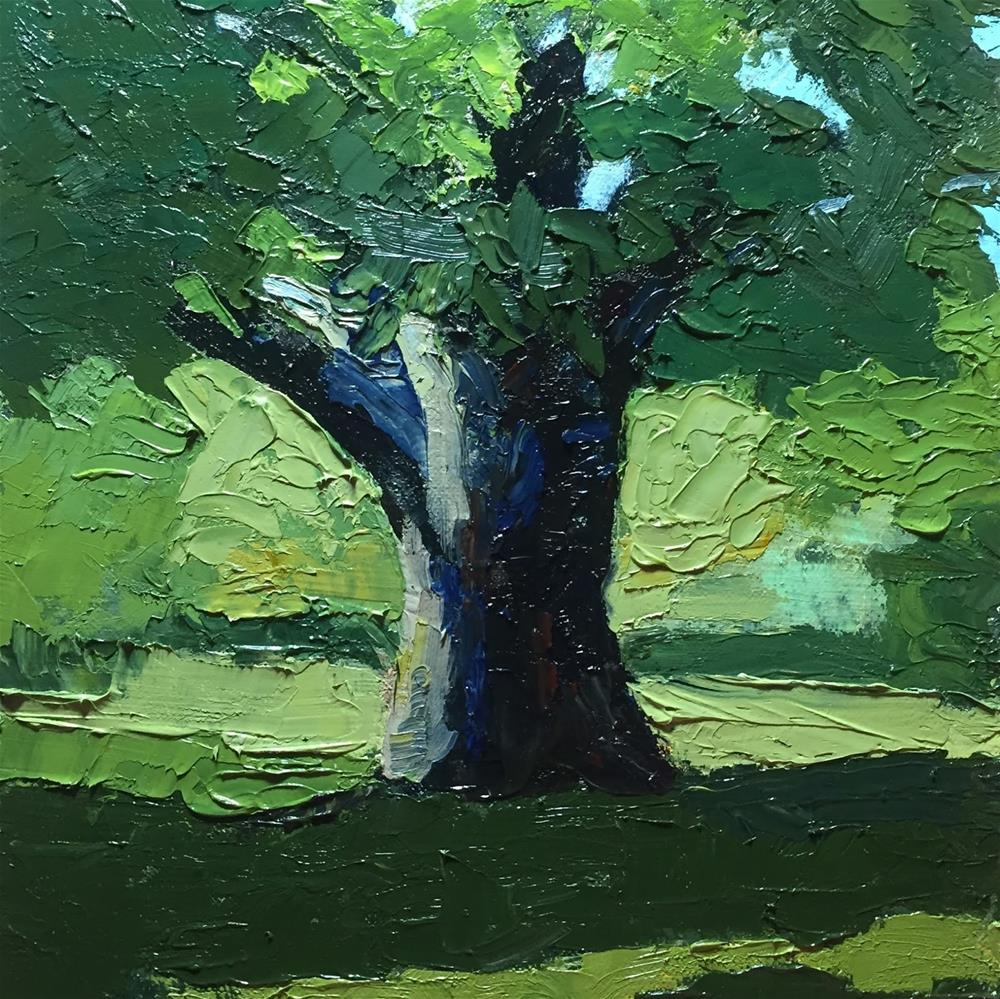 """#186 Big Old Tree"" original fine art by Libby Gilpatric"