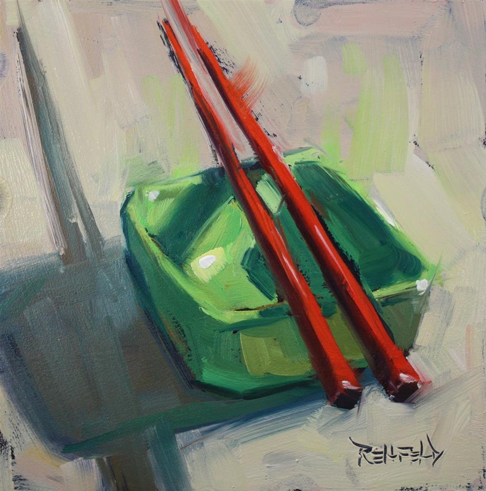 """Chopsticks Resting"" original fine art by Cathleen Rehfeld"