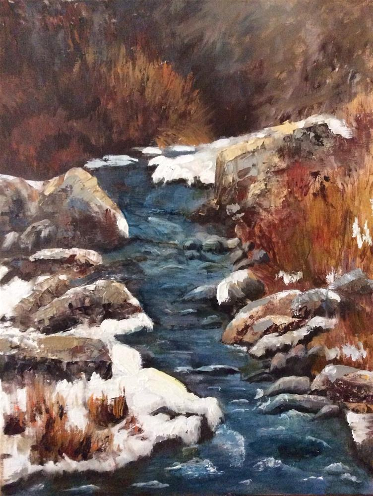 """Jemez Creek, New Mexico"" original fine art by Charlotte Lough"