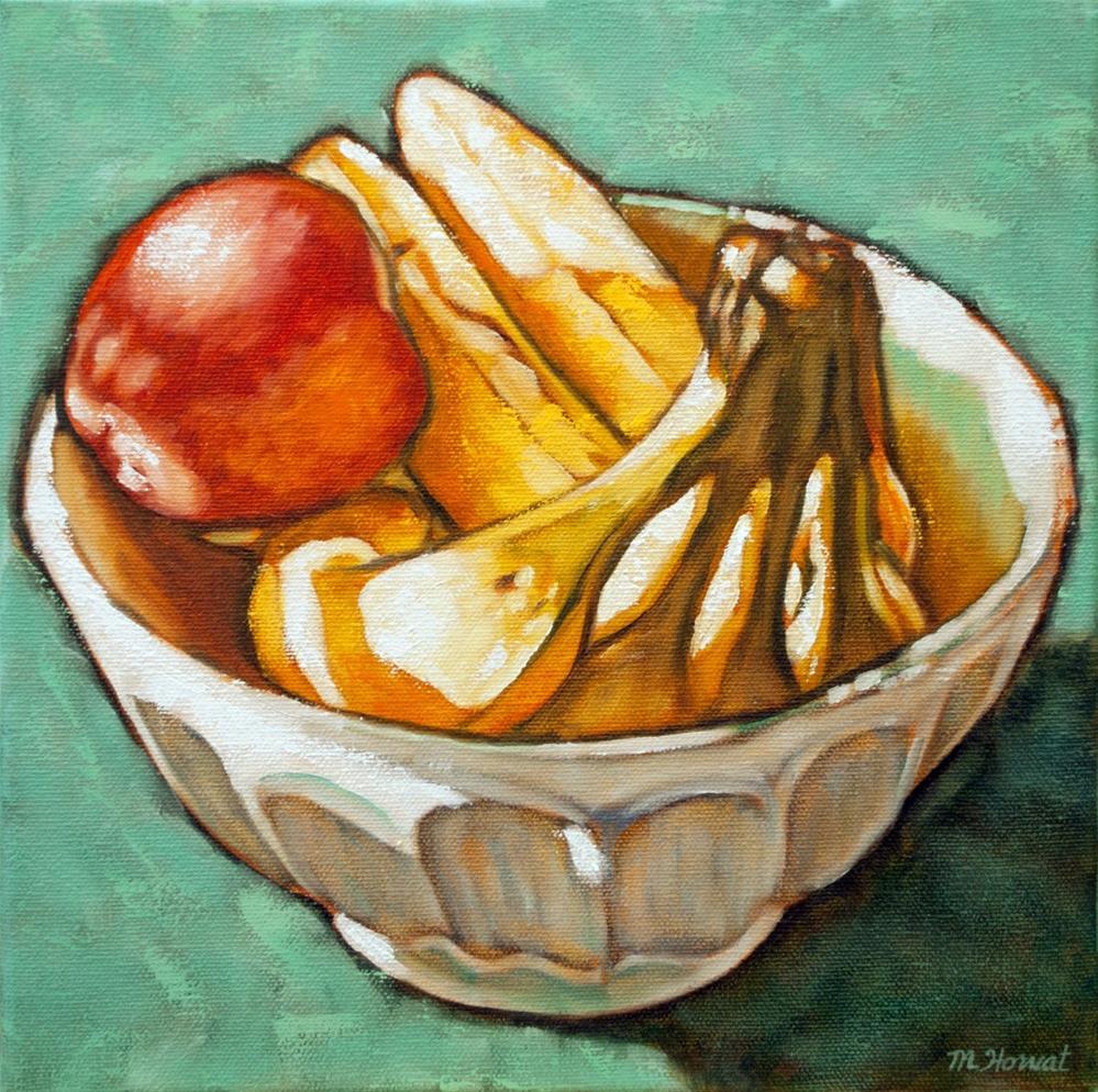 """""""Sunny Fruit Bowl II"""" original fine art by Margaret Horvat"""