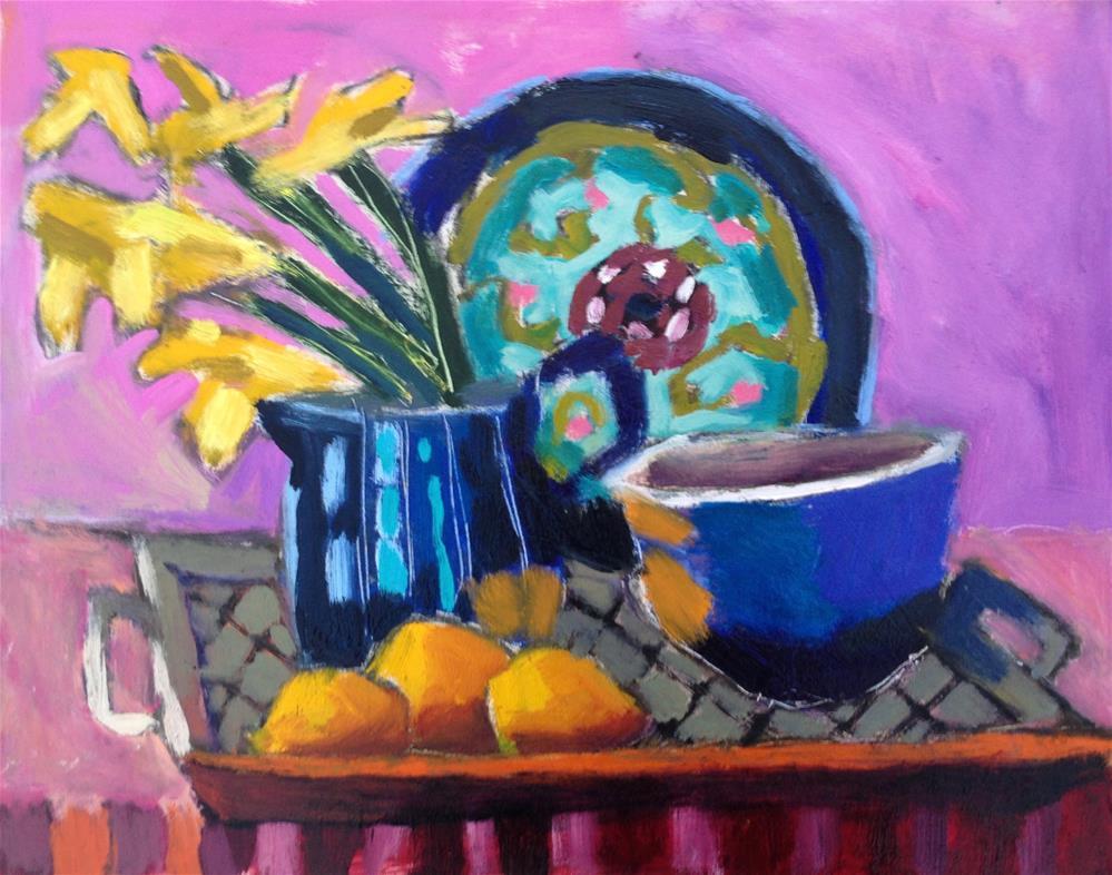 """Anthropology Plate"" original fine art by Pamela Hoffmeister"