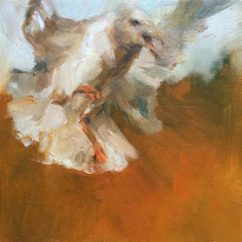 """Seagull"" original fine art by Anny Kong"