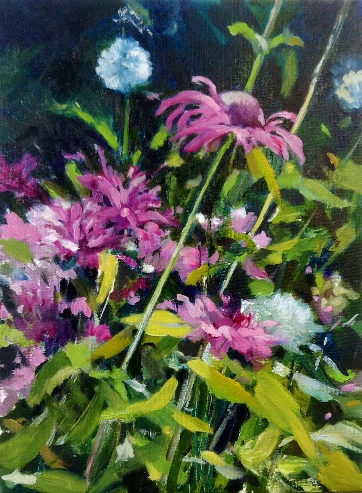 """Bee Balm for Betty"" original fine art by Cathy Boyd"