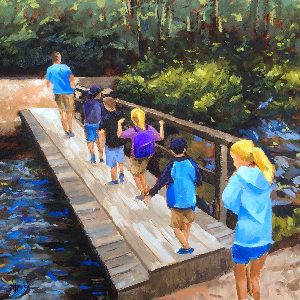 """Follow the Leader"" original fine art by Adam Houston"