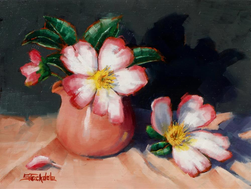 """Camellias"" original fine art by Margaret Stockdale"