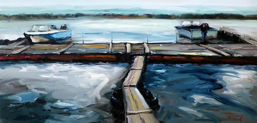 """Boats"" original fine art by Jurij Frey"