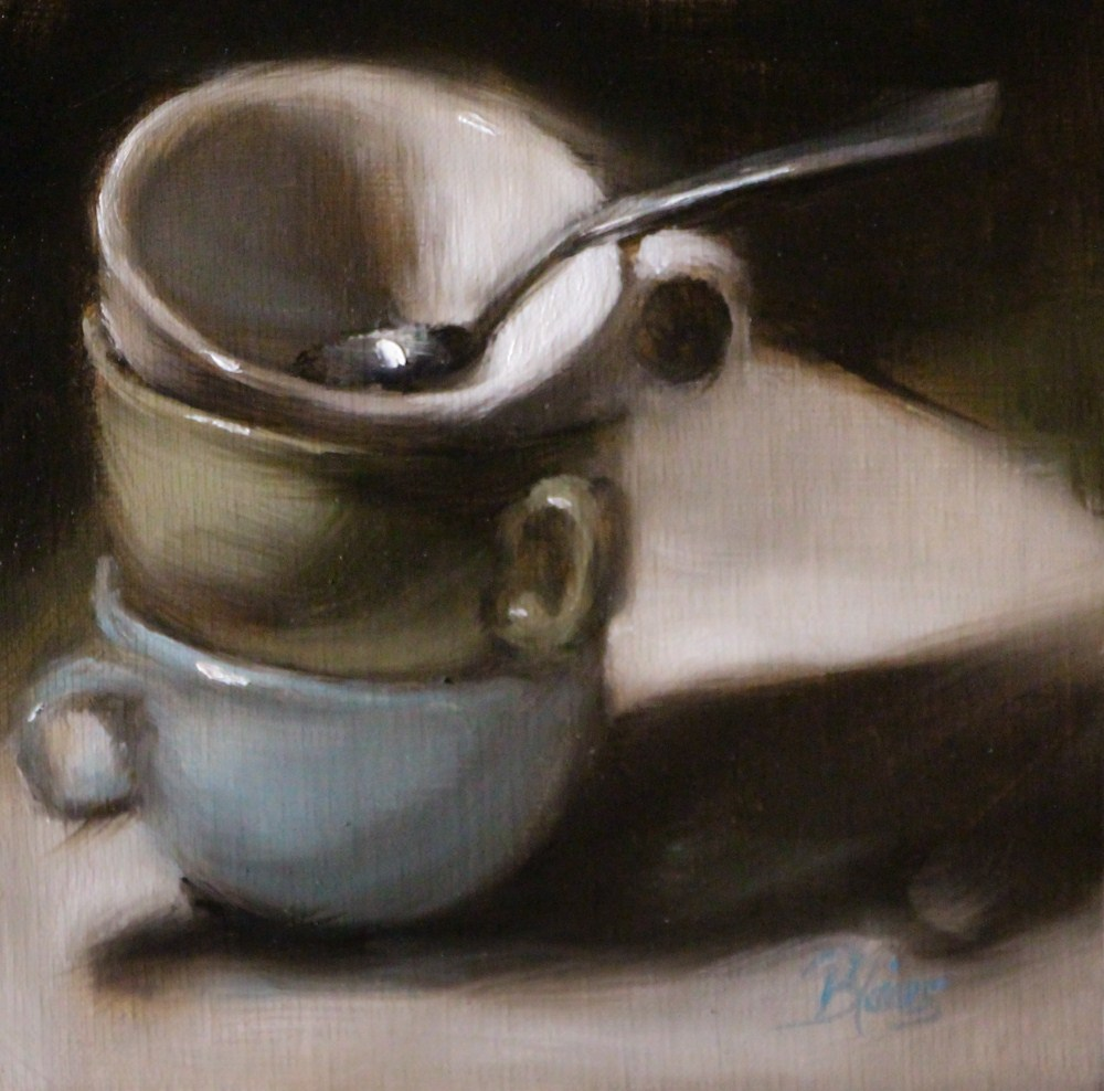 """Three for Tea"" original fine art by Pamela Blaies"