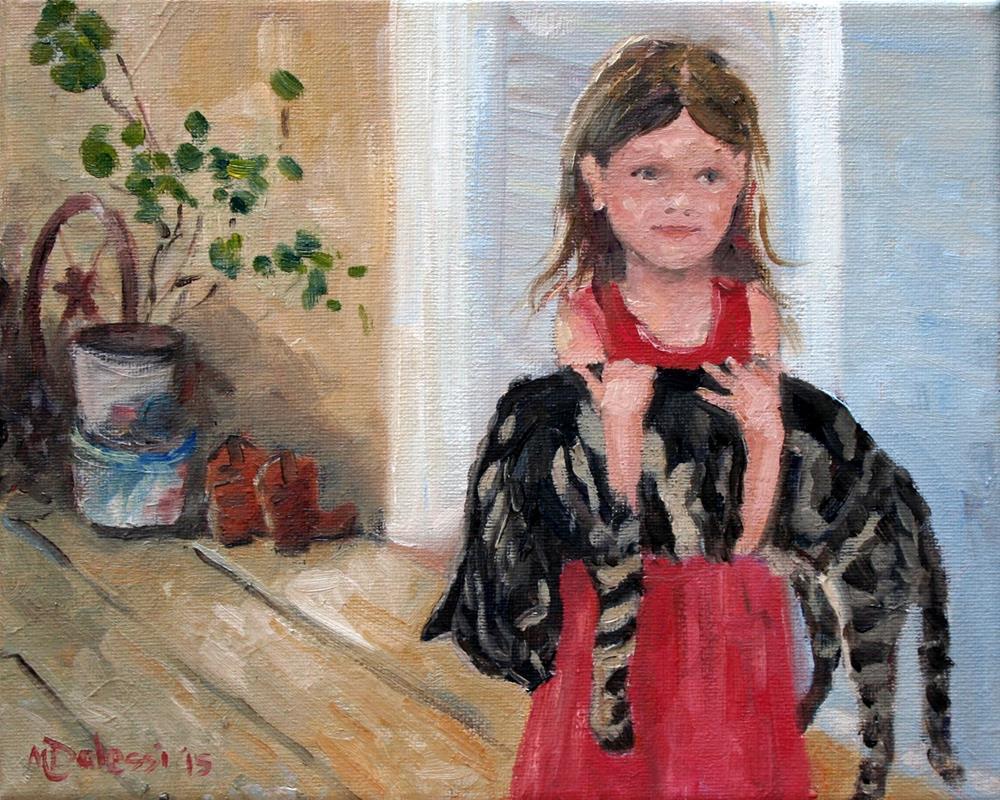 """""""I found a cat"""" original fine art by Miranda Dalessi"""