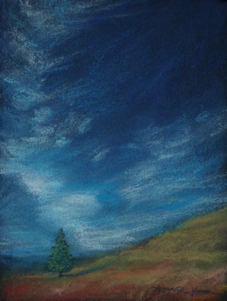 """Fitton Green Conifer"" original fine art by Jana Johnson"