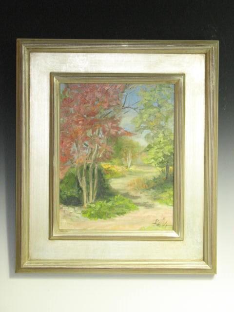 """9 x 12 CANVAS w custom 4 inch frame:  Sunshine Warms the Soul II"" original fine art by Brenda Kollman"