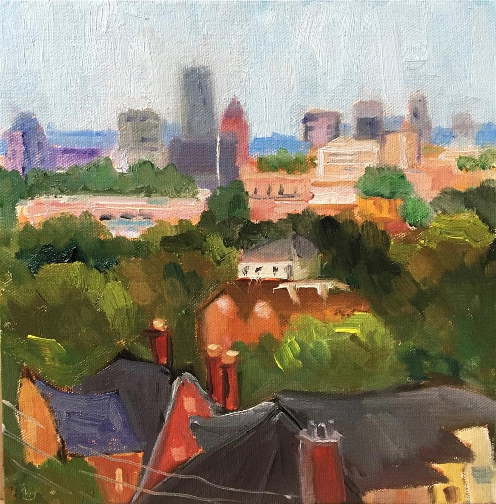 """Above the City"" original fine art by Victoria  Biedron"