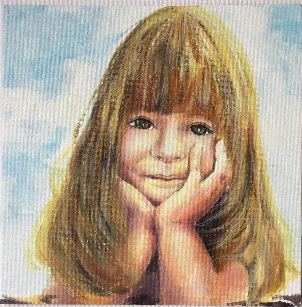"""Shining Smile"" original fine art by Hui (Hue) Li"