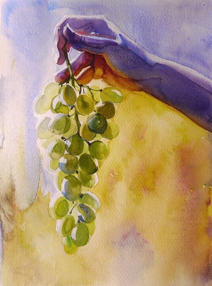 """grape2"" original fine art by Beata Musial-Tomaszewska"