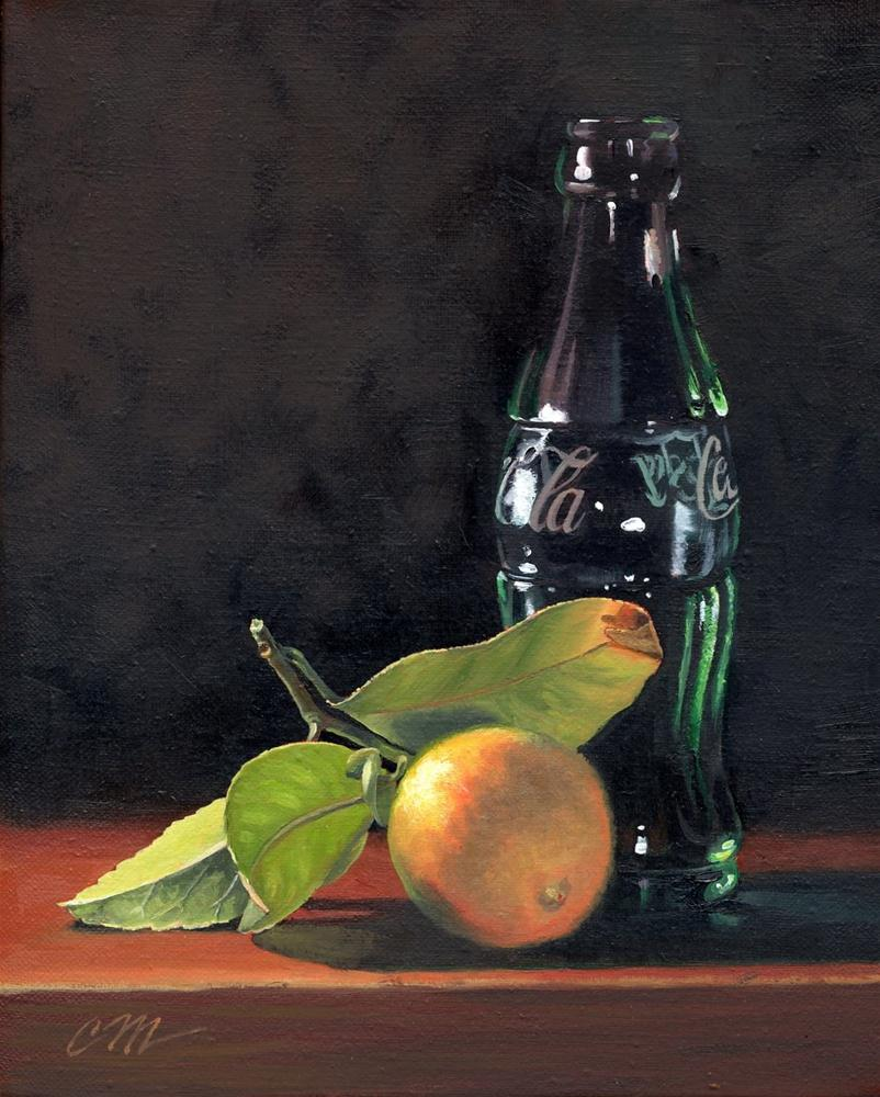 """Vintage Coke and Lemon"" original fine art by Connie McLennan"