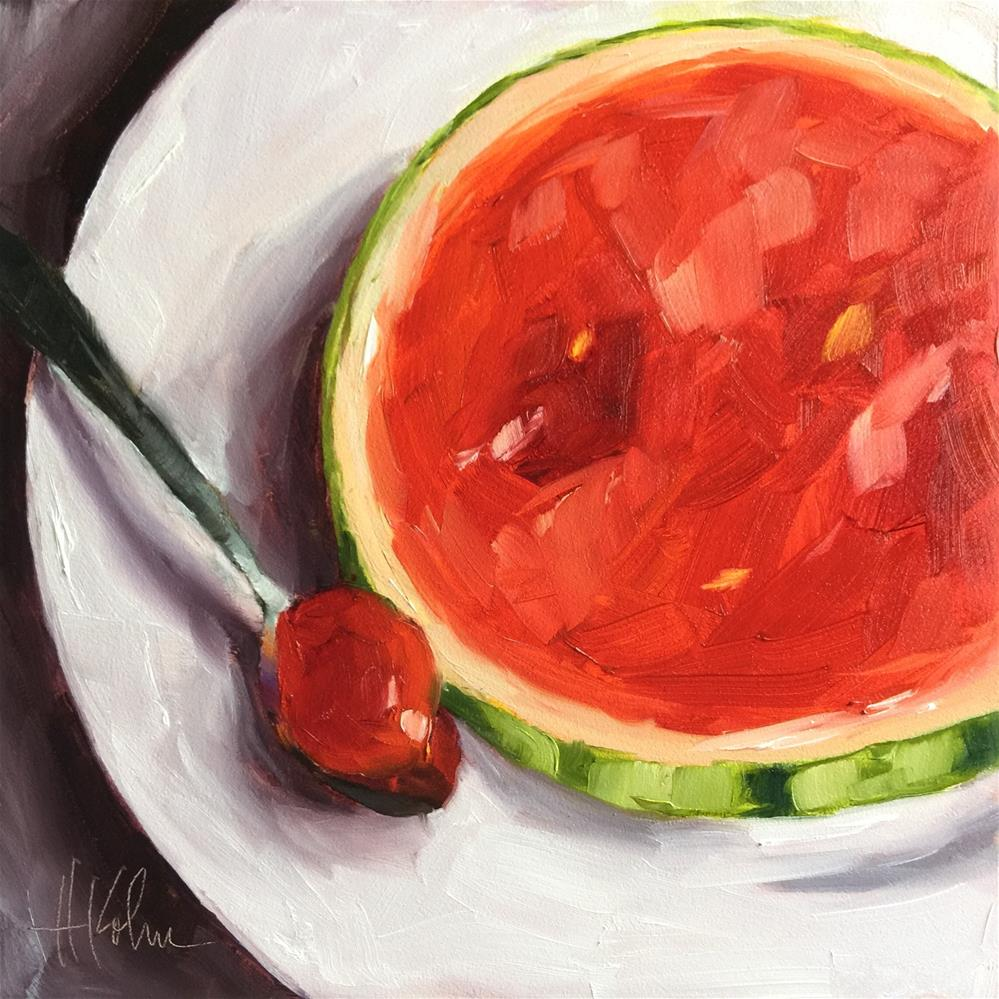 """Mini Melon 3"" original fine art by Hallie Kohn"