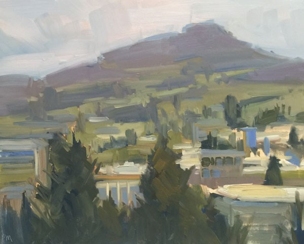 """View of Spencer's from Skinner's Butte"" original fine art by Patti McNutt"