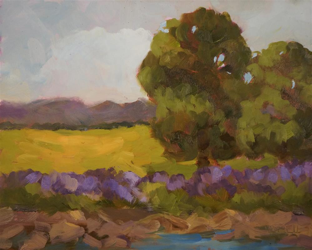 """""""Saffron Fields Vineyard"""" original fine art by Sue Harrell"""
