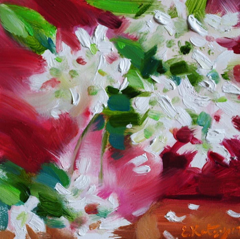 """""""White Blossoms"""" original fine art by Elena Katsyura"""