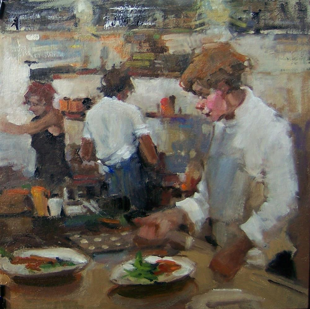 """counter culture cafe"" original fine art by Kim Roberti"