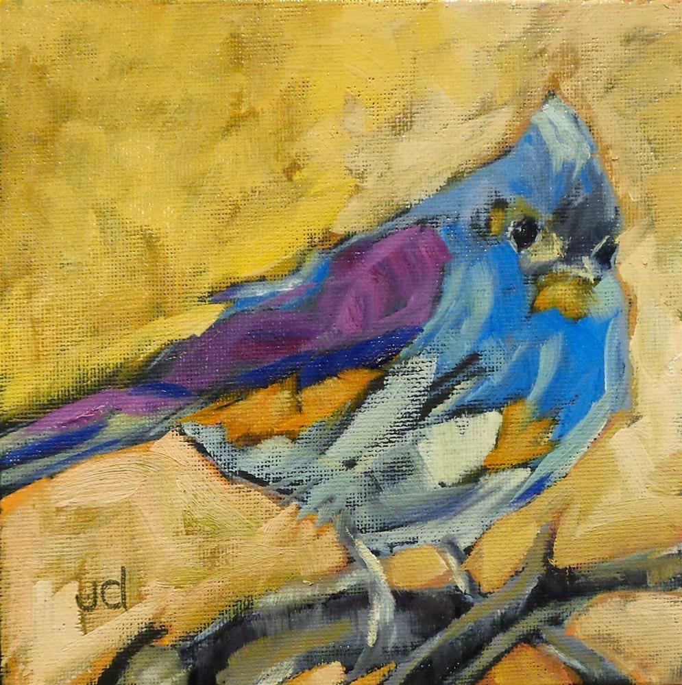 """Pretty bird"" original fine art by Jean Delaney"