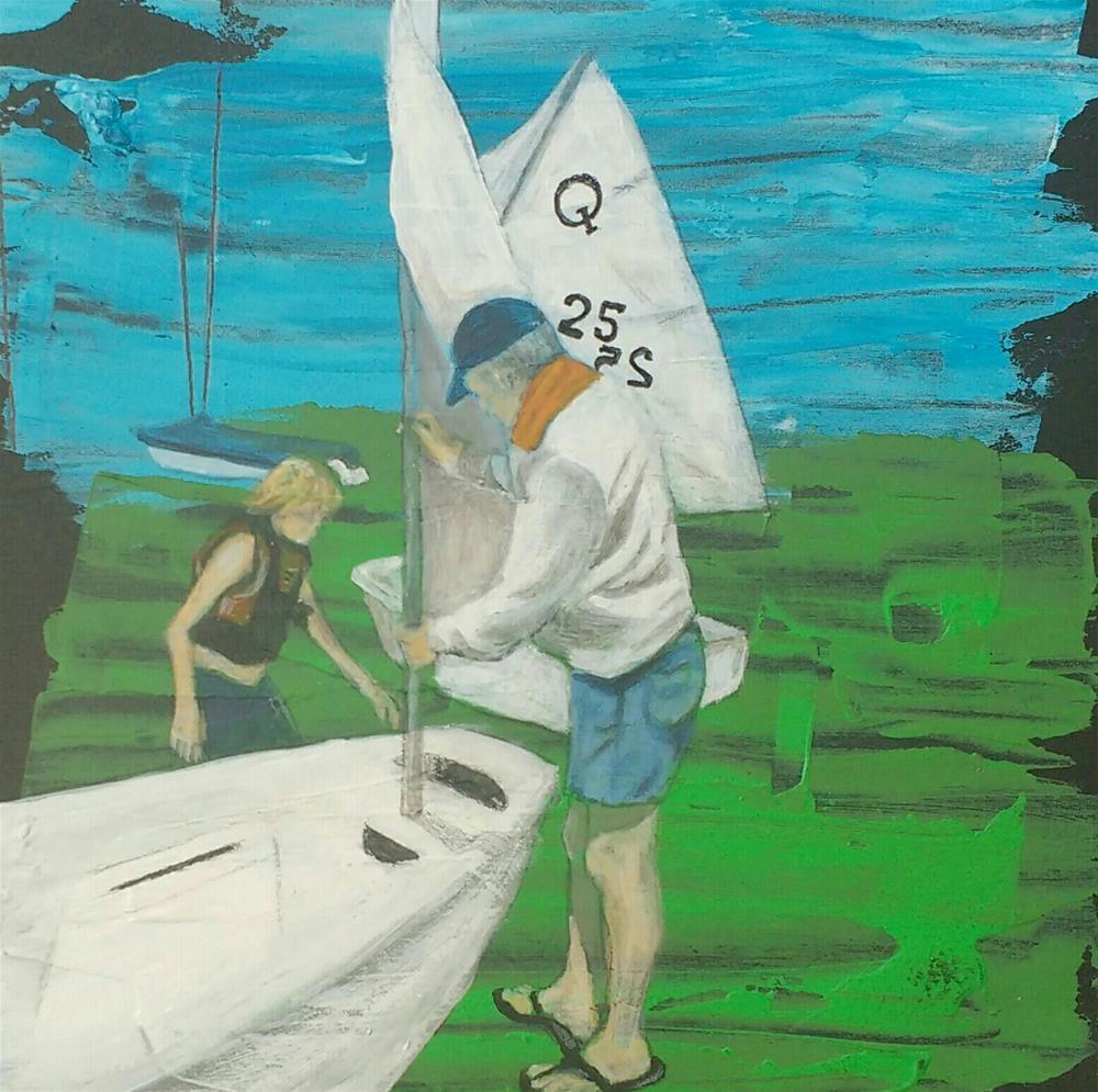 """sailing"" original fine art by Sandra Woerner"