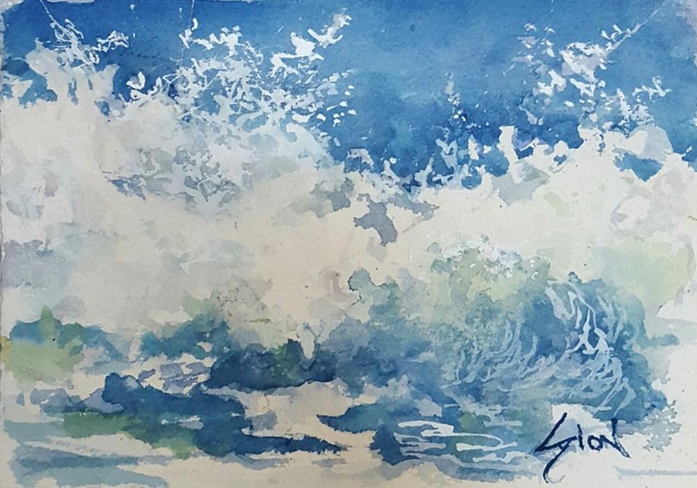 """""""Splash 1"""" original fine art by Sue Dion"""