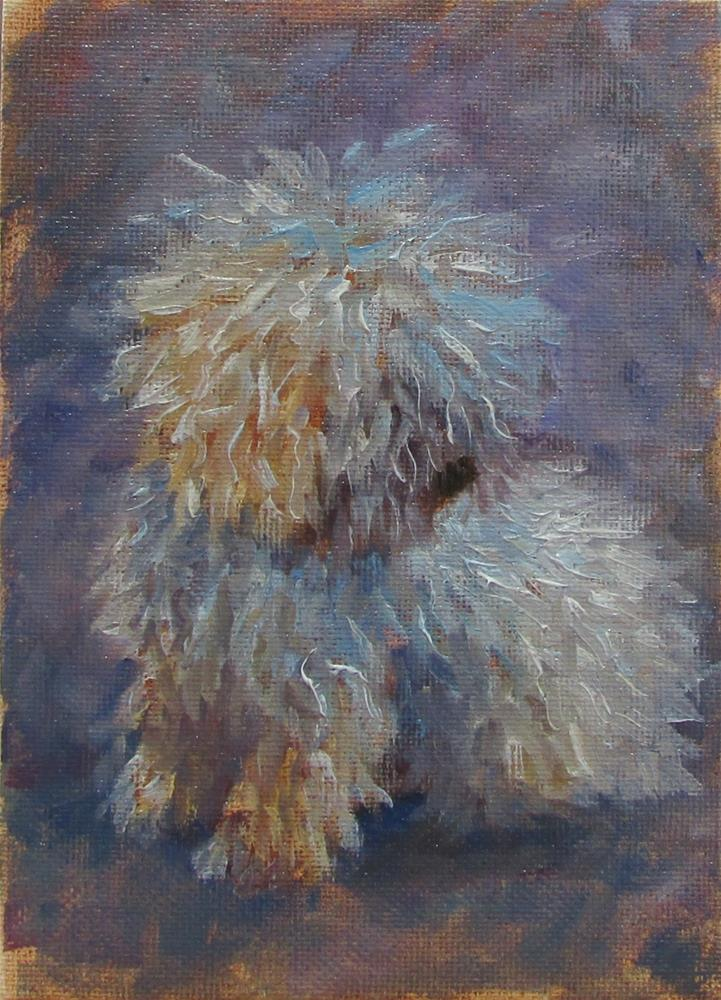 """Where is My Groomer?"" original fine art by Christine Lewis"