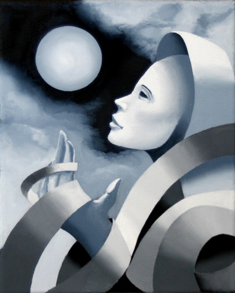 """Mark Webster - Gray Matter #3 - Abstract Grayscale Oil Painting"" original fine art by Mark Webster"