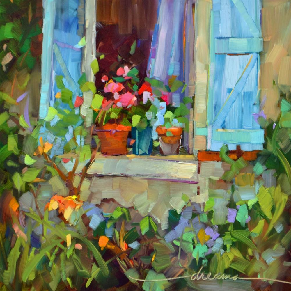"""For the Love of French Blue"" original fine art by Dreama Tolle Perry"