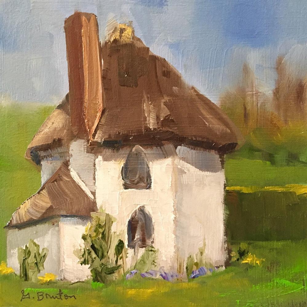 """""""Cottage"""" original fine art by Gary Bruton"""