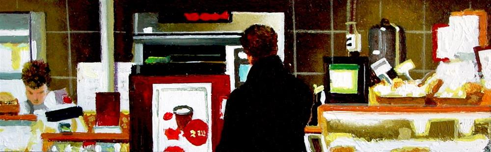 """Counter- Man Waiting At Counter"" original fine art by Gerard Boersma"