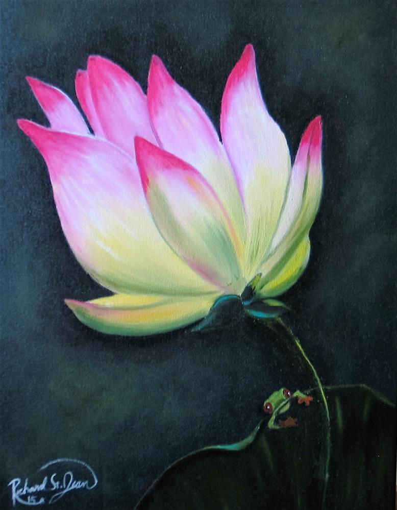 """Water Lily"" original fine art by Richard St.Jean"