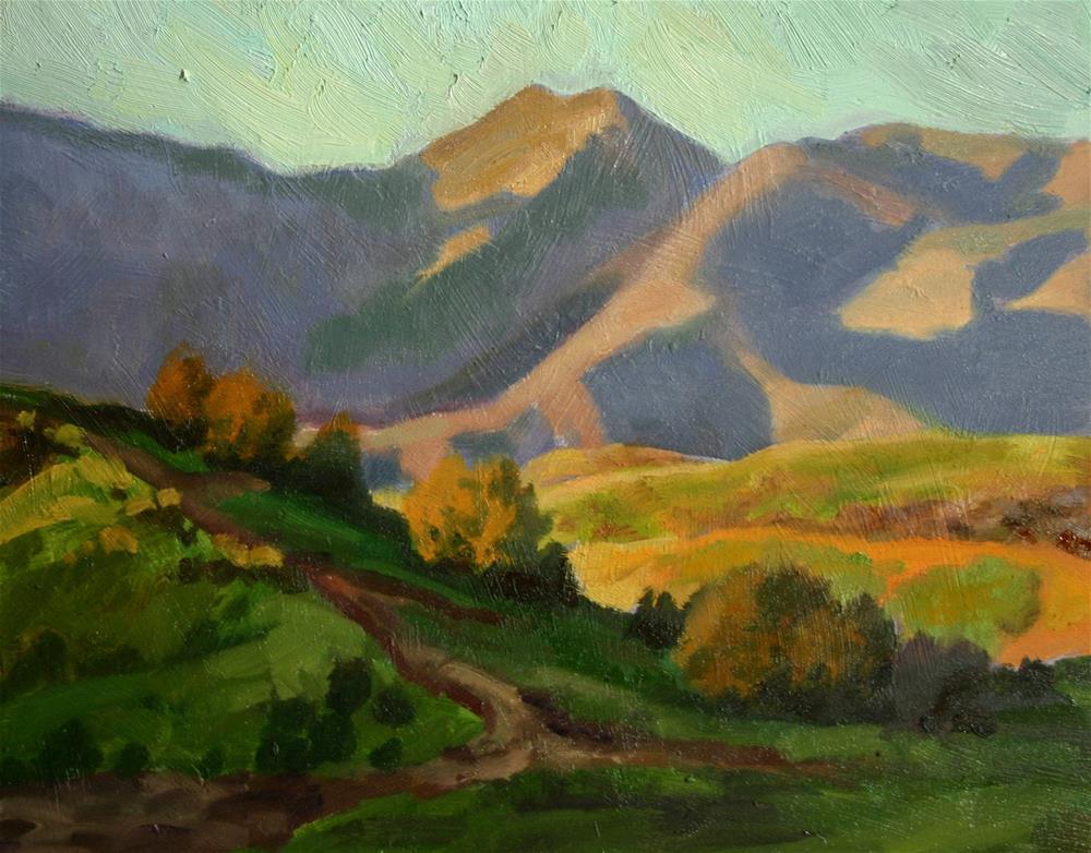 """Rolling Hills"" original fine art by K.R. McCain"