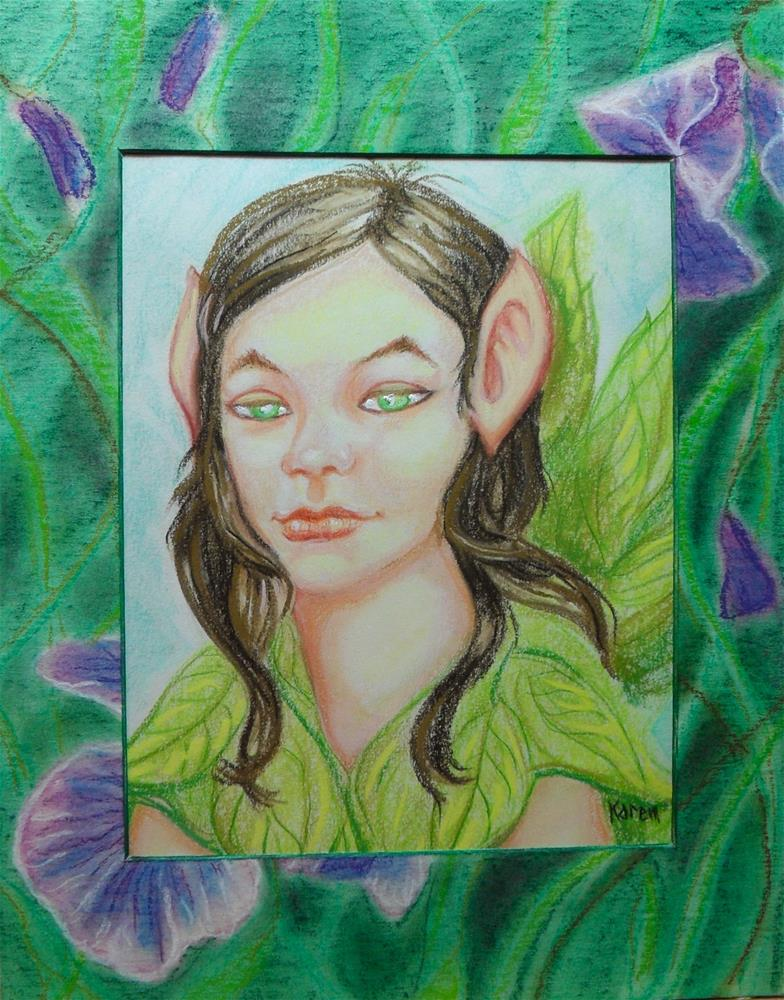 """Green Fairy"" original fine art by Karen Roncari"